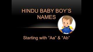Baby Boy Names Hindu video, Baby Boy Names Hindu clips