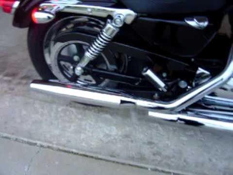 1200 Custom Sportster Stock Exhaust w/ baffles cut out