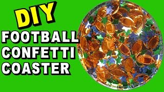 Football Confetti Coaster -  Another Coaster Friday Craft Klatch