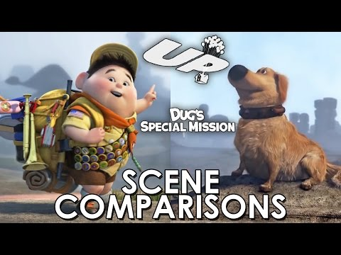 Up (2009) and Dug's Special Mission (2009) - scene comparisons