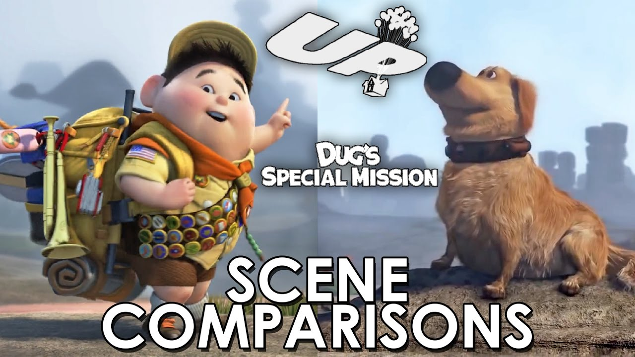Up and Dug's Special Mission - scene comparisons - YouTube
