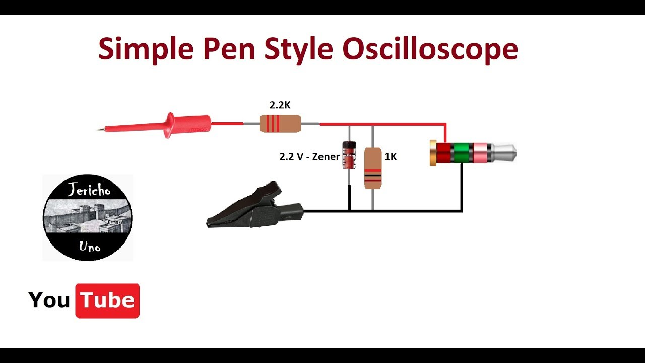 make an oscilloscope pen style 0 to 12 volts direct  [ 1280 x 720 Pixel ]