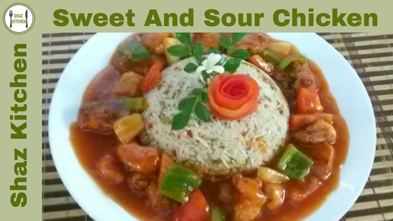 Sweet And Sour Chicken RecipeIn Urdu HindiHow To Make Restaurant Style
