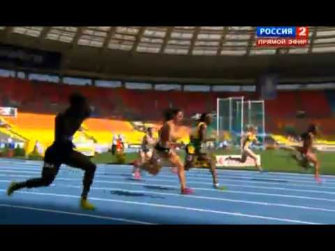2013 IAAF Word Championships women 100m dash opening heats