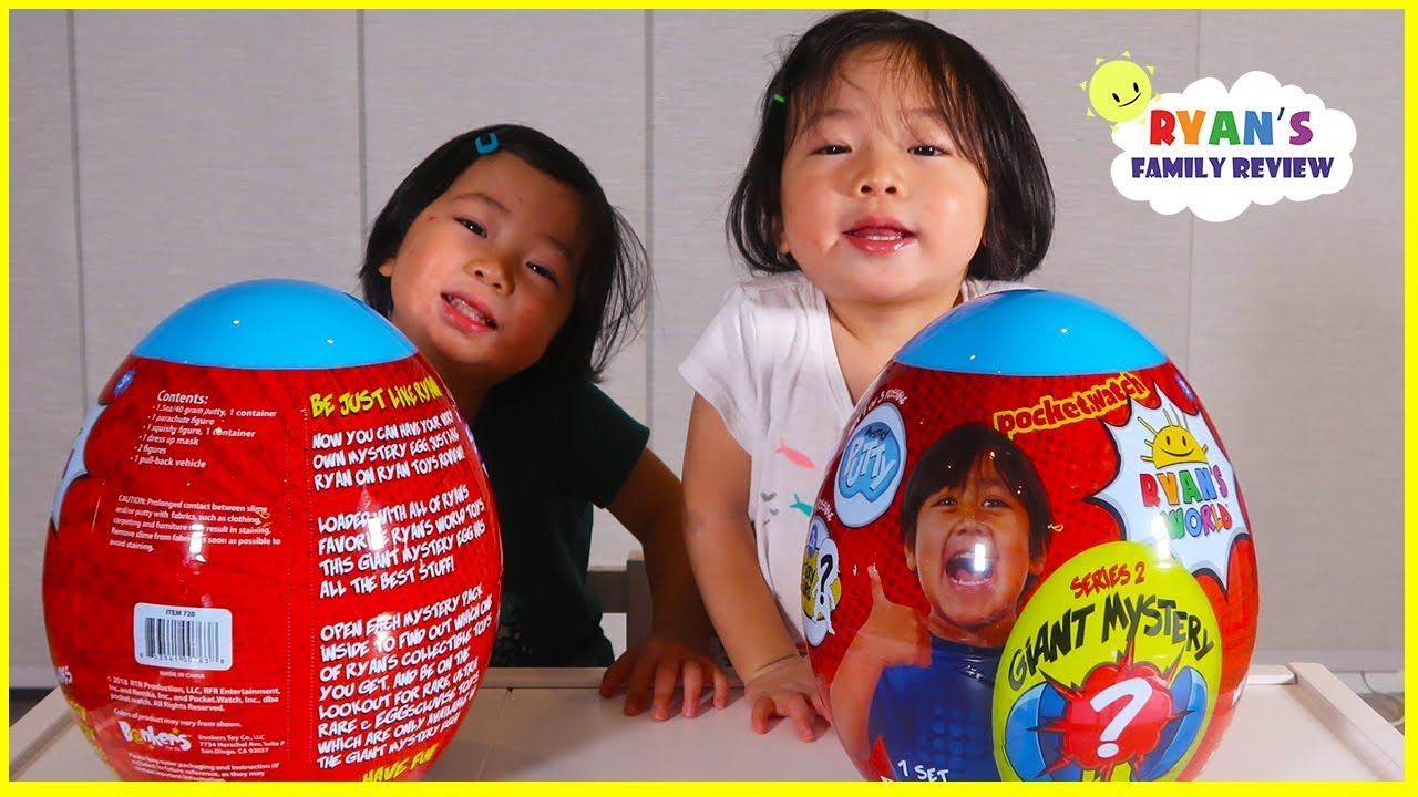 NEW IN EGG Ryan/'s World Giant Mystery Egg Toy Surprises Series 2 Blue