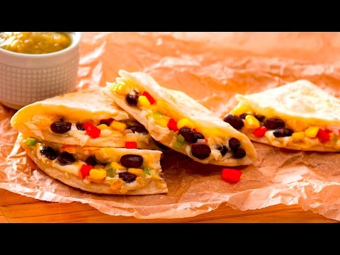 High Protein Veggie & Corn Quesadilla Recipe