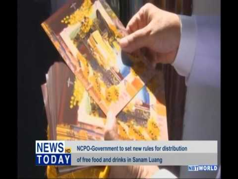 NCPO-Government to set new rules for distribution of free food and drinks in Sanam Luang