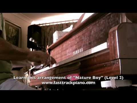 "Piano lesson for beginners ""Nature Boy"""