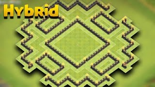TH 9 Hybrid Base (Nox Player) | COC Town Hall 9 Hybrid Base | Clash Of Clans