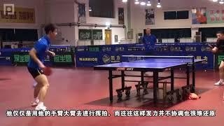 《乒乓球训练日记》第25集:正手连续快拉摆速 张继科示范