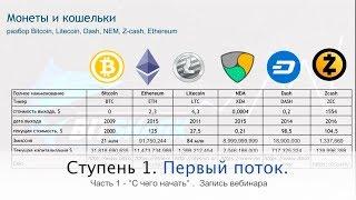 Обзор криптовалют. Bitcoin, Ethereum, Litecoin, Nem, Dash, ZCash, Wawes, Bitshares, Ripple