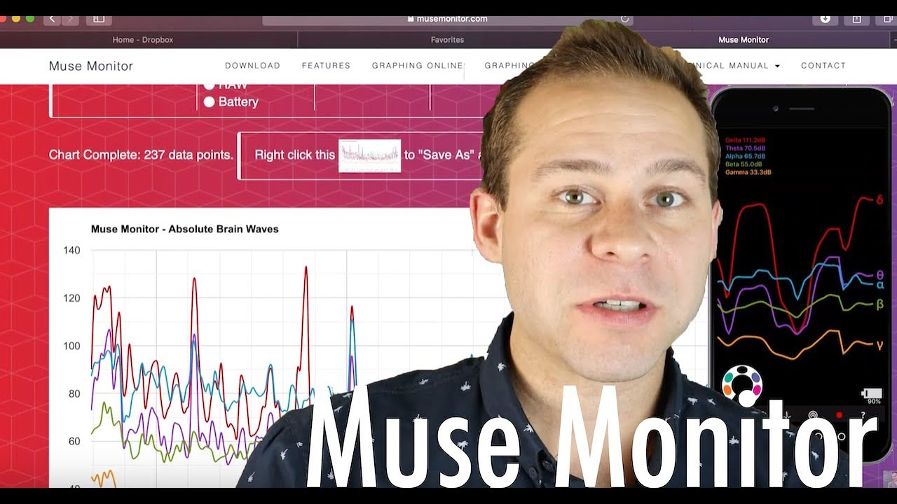 Muse Monitor (The Best 3rd Party Brainwave Recording App)