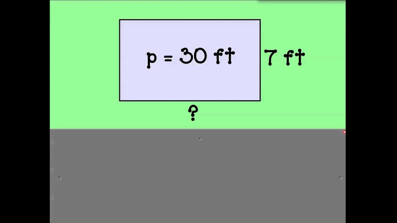 hight resolution of Find the Missing Side Given the Perimeter - YouTube