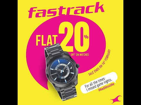 Flat 20% Off On Fastrack Watches! Shop Now.