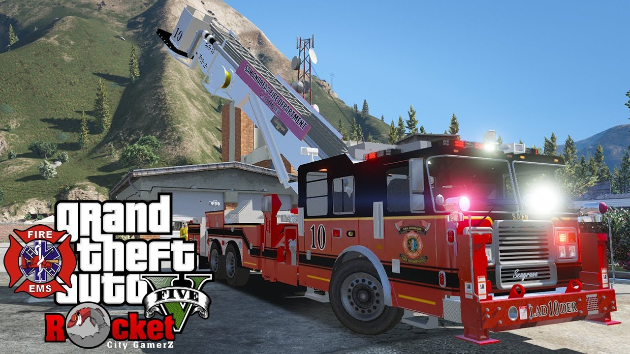New Fire Dept  Ladder Truck! EMS/Fire Rescue | GTA 5 LSPDFR (Agency  Callouts and Firefighter Mod)
