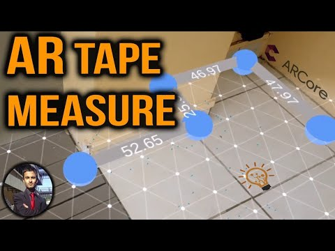 AR Measuring App Demo using ARCore in Unity - YouTube
