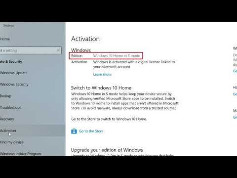 Windows 10 How to Switch Out of S Mode - YouTube