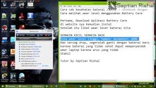 cara cek kondisi kesehatan baterai laptop notebook dengan melihat wear level