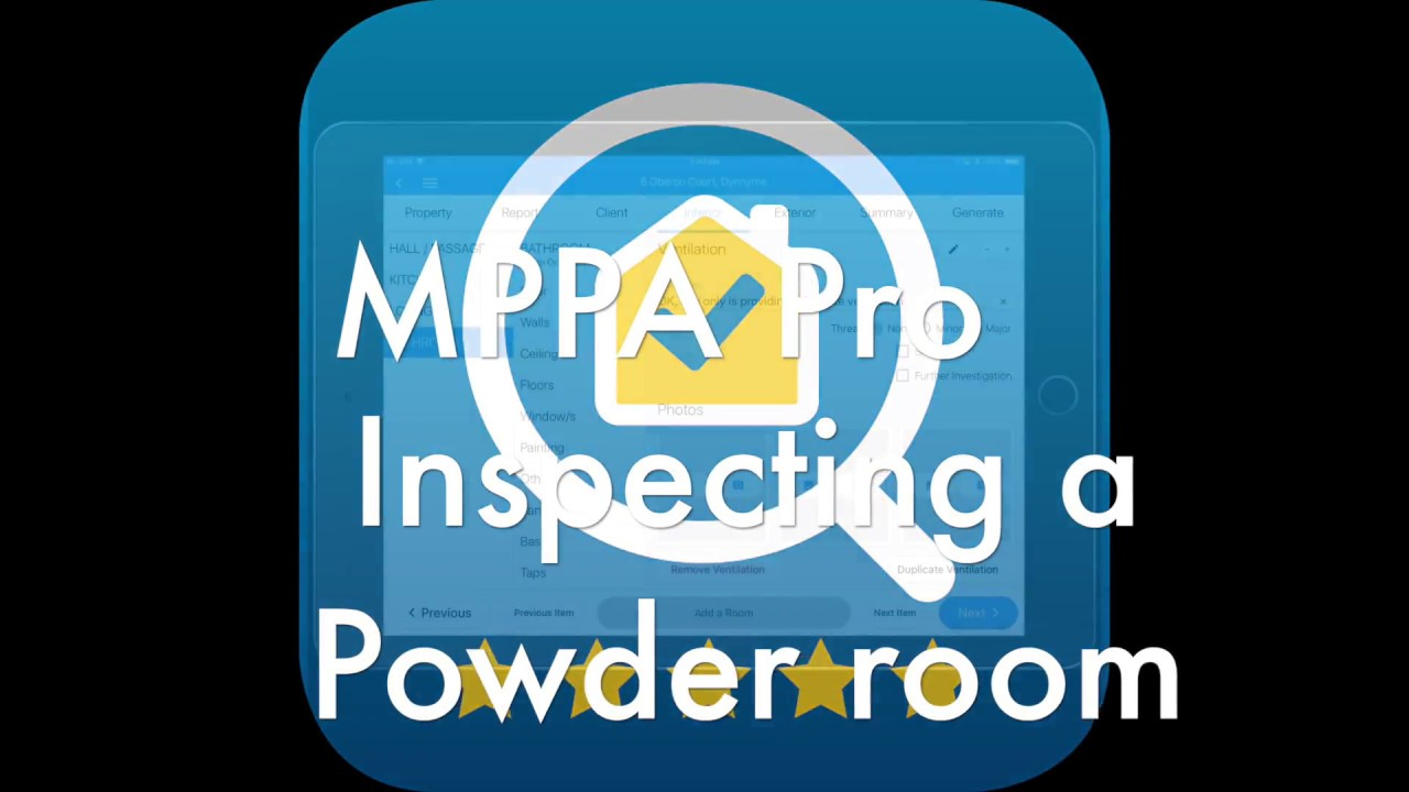 Building Inspector App MPPA Pro - Powder Room