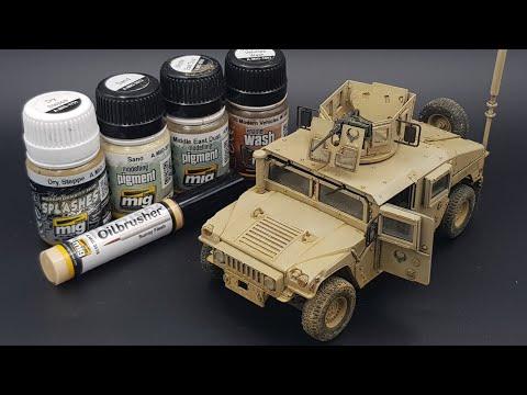 M1151 Academy 1/35 Humvee Timelapse Video
