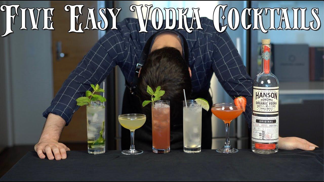 The 5 Easiest VODKA Cocktails