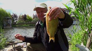 Ловля карася болонской удочкой  Городская рыбалка