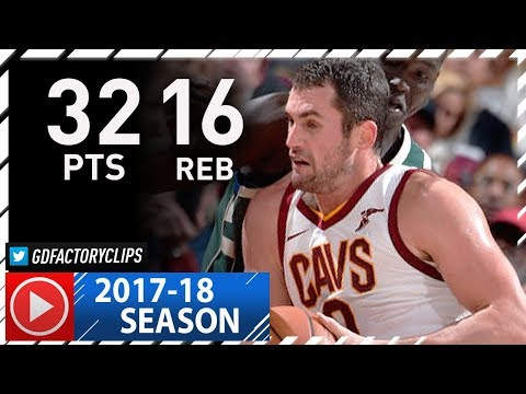 Kevin Love Full Highlights vs Bucks (2017.11.07) - 32 Pts, 16 Reb