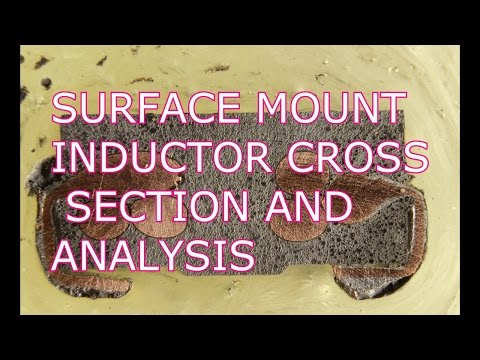 Cross Section and Analysis of a SMT Inductor