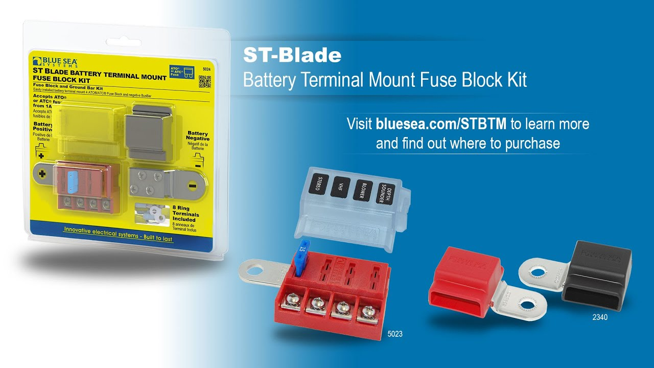 Blue Sea Systems Boat//RV 5024 ST-Blade Battery Terminal Mount Fuse Block