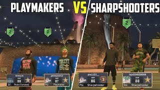 TEAM OF PLAYMAKERS VS TEAM OF SHARPSHOOTERS! NBA 2K17 MYPARK CHALLENGE!