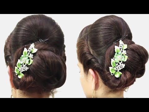 How to do Bridal Bun Hair style for long hair 2018 || Simple Hair style Tutorial 2018