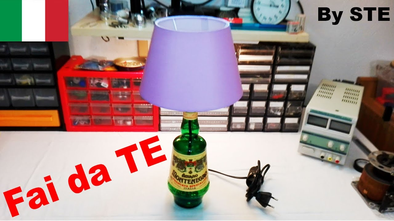 How To Make Your Bottle Lamp Lampada Con Bottiglia By Ste