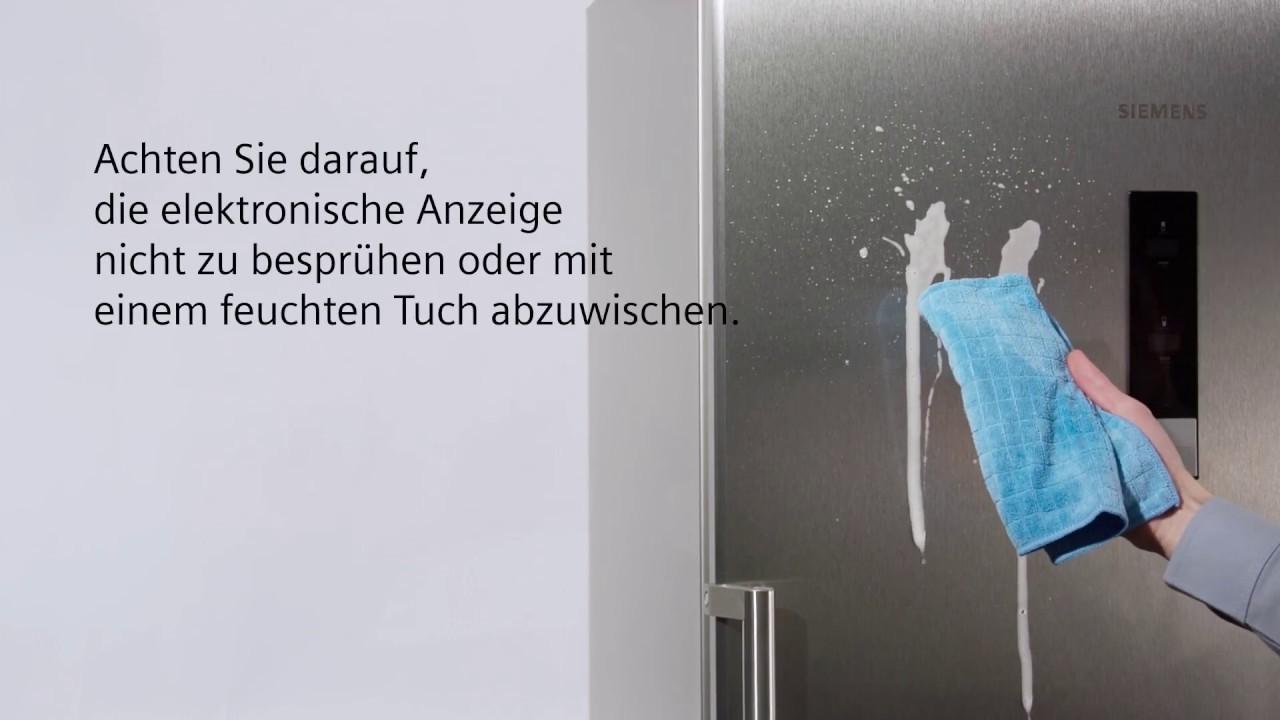 Siemens Kühlschrank Silber : Siemens hausgeräte kühlschrank reinigung youtube