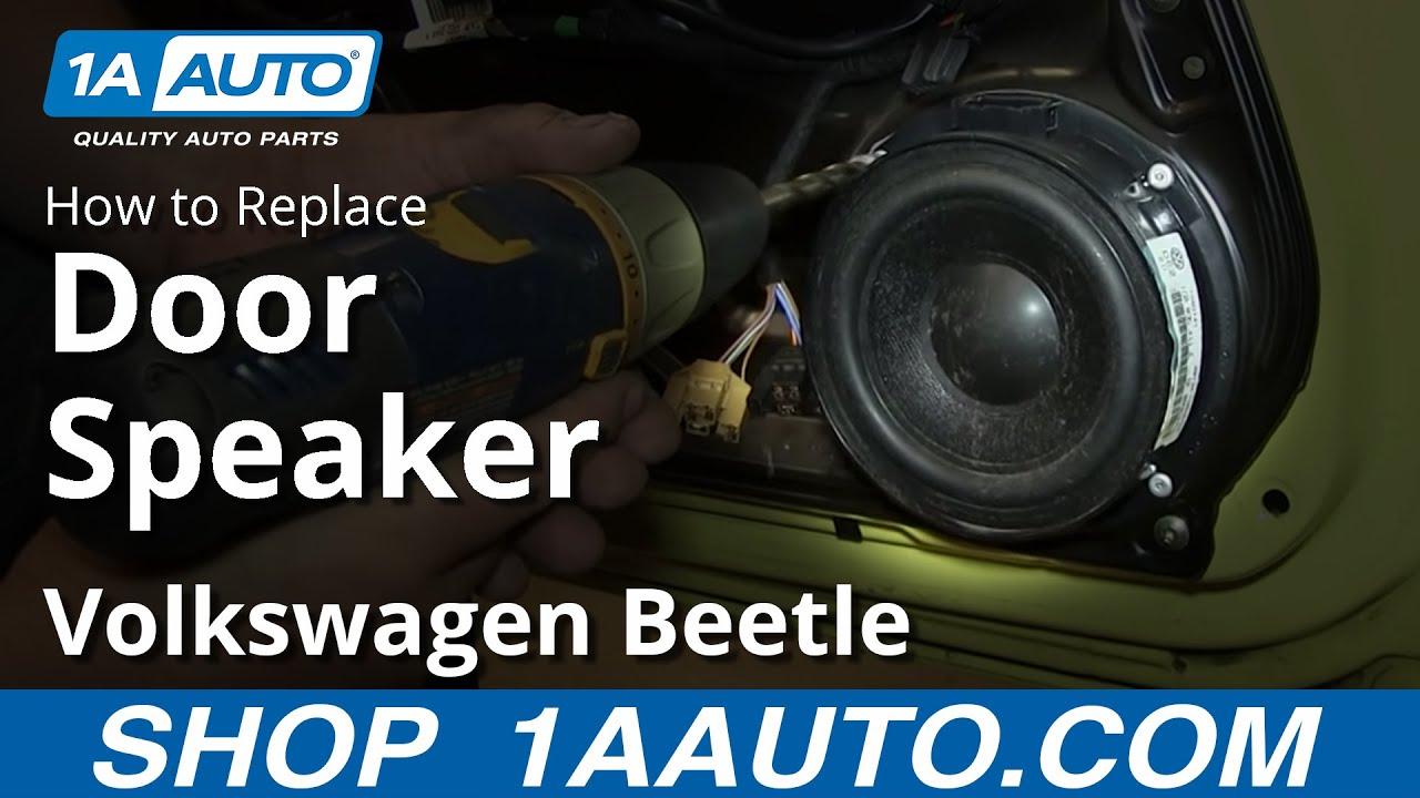 How To Remove Install Door Speakers 1998 10 Vw Volkswagen