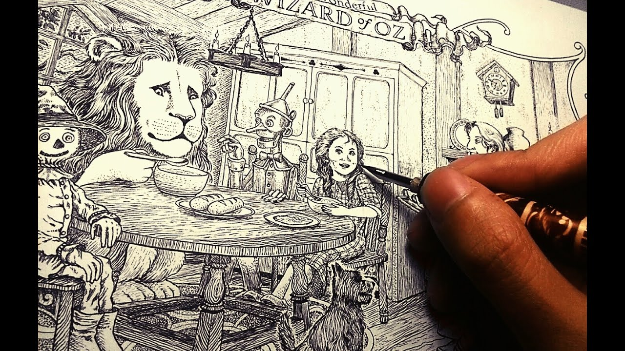inking tutorial 2: pen and ink wood texture, stippling ...