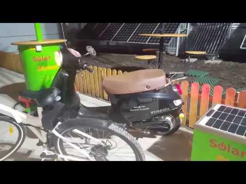 Solar Bench Street Charger - Smart City - Banca cu inteligenta artificiala