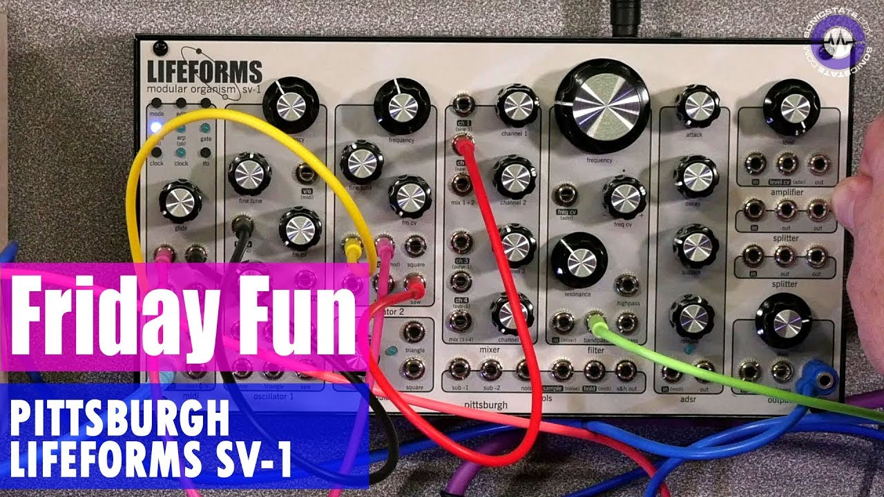 friday fun synth jam pittsburgh modular sv 1 synth jam youtube. Black Bedroom Furniture Sets. Home Design Ideas