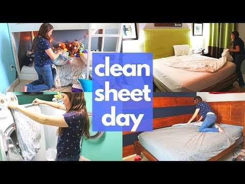 CLEAN SHEET DAY CLEANING MOTIVATION // CLEANING MOM