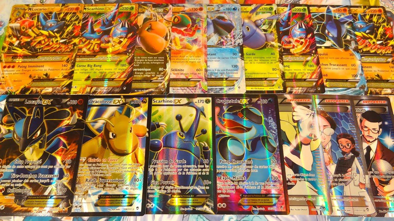 Toutes les cartes pok mon ultra rares de xy 3 poings furieux exceptionnel ex full art mega - Tout les carte pokemon ex ...