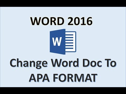 Word 2016 - APA Format Tutorial - How To Set Up APA Formatting in 2017 on Mac or PC for MS Office