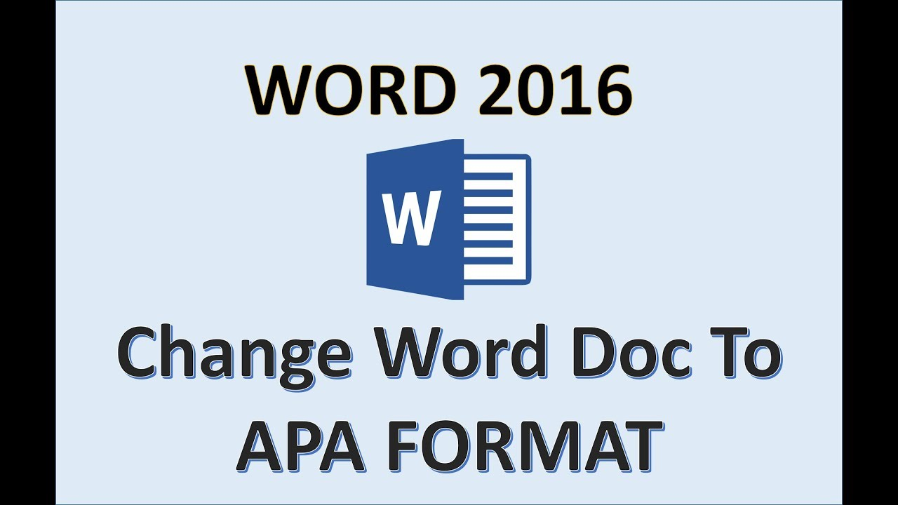 word 2016 apa format tutorial how to set up apa formatting in