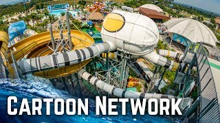 ALL WATER SLIDES at Cartoon Network Amazone Waterpark, Thailand!