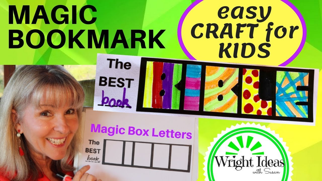 Magic Bible Bookmark Craft For Kids Church Home School Youtube
