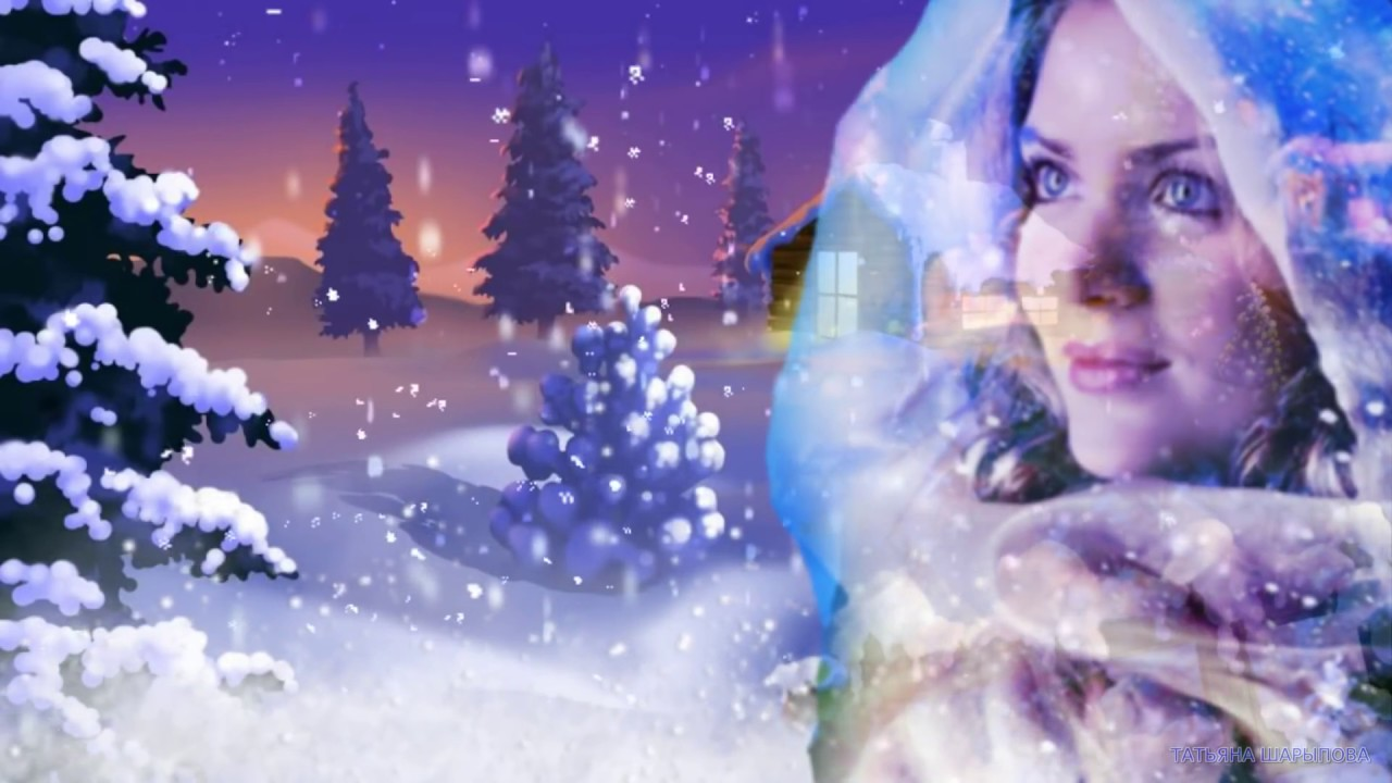 белый видео снег