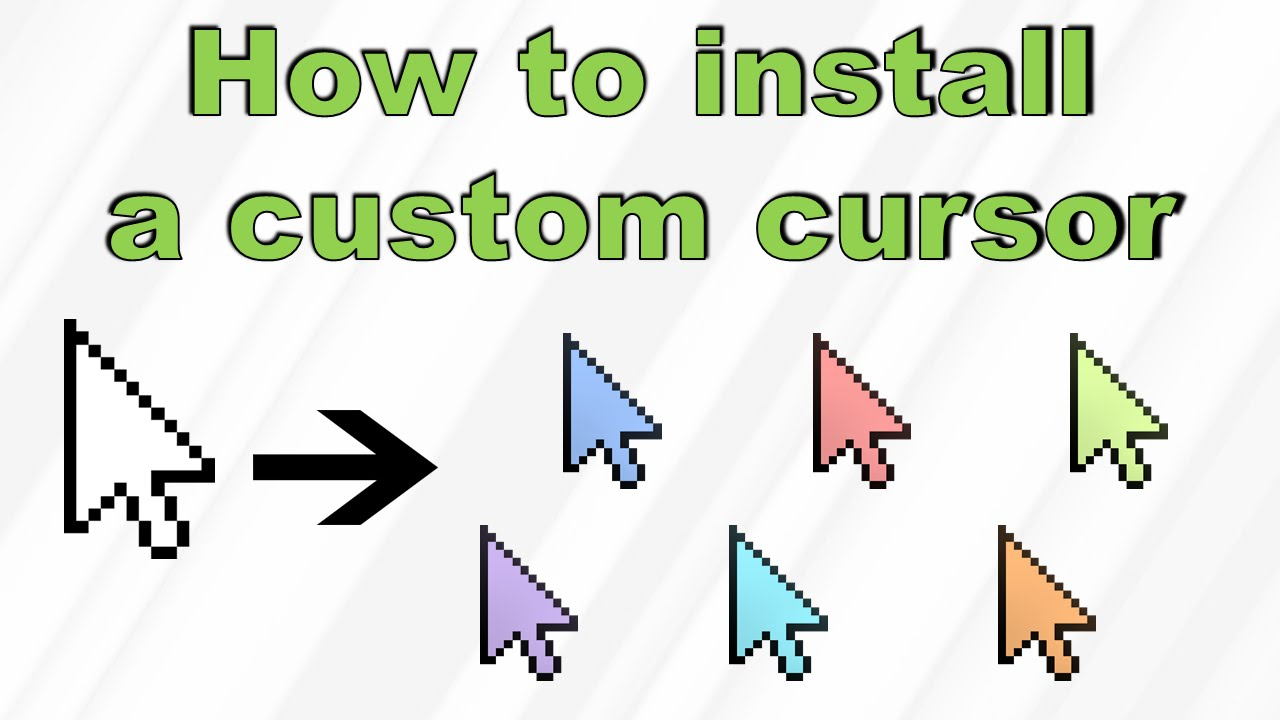Get a custom cursor! Where to download, and how to install. - YouTube