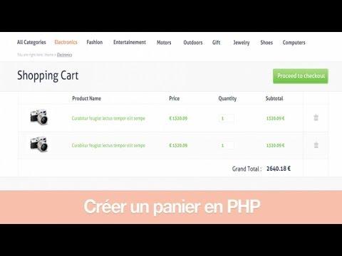 Tutoriel PHP - Créer un panier en PHP