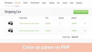 Tutoriel PHP : Créer un panier en PHP