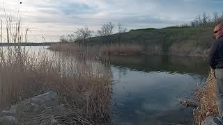 Весенняя рыбалка на водохранилище апрель 2021