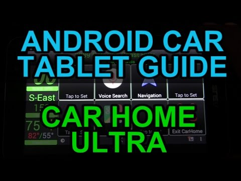 Android Auto Car Tablet - Car Home Ultra App - Review And Demo