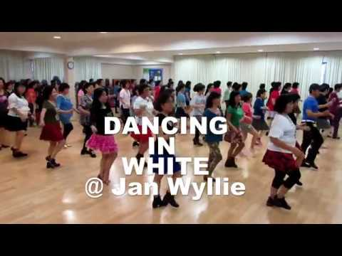 DANCING IN WHITE Jan Wyllie @ EBC Line Dancers 19 August 2018